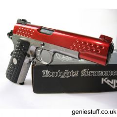 WE  Knighthawk 1911 Full Metal Chrome & Red GBB Pistol